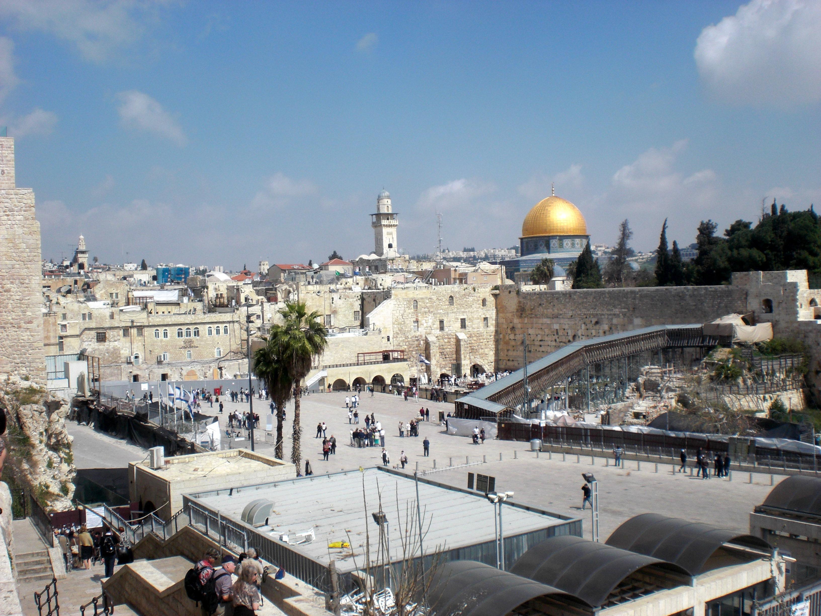 Jerusalem, Tempelberg, Klagemauer, Felsendom