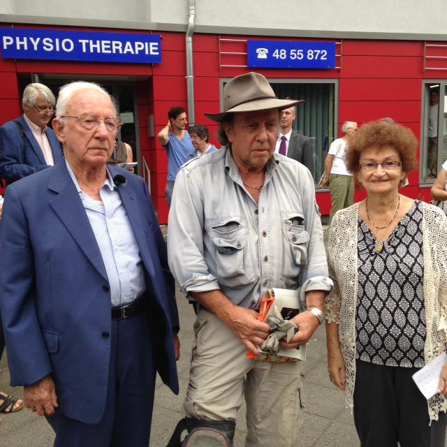 Amnon Carmi, Gunter Demnig und Yehida Chelouche