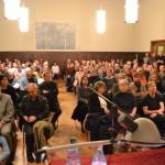 Sally Perel zu Gast im Pankower Waisenhaus, 7. Januar 2015.