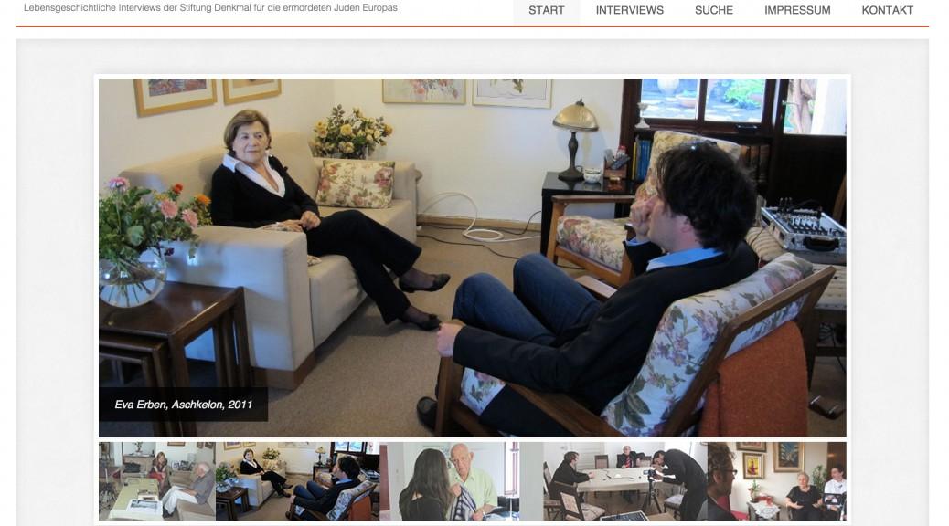 Screenshot der Startseite von http://www.sprechentrotzallem.de/ mit Eva Erben