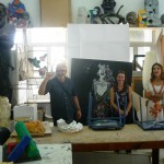 Besuch der Jugendkunstschule in Ashkelon, mit Ines Lekschas, Leiterin der Pankower Jugendkunstschule JUKS