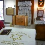 Besichtigung des Kibbuzes Nitzanim. Synagoge.